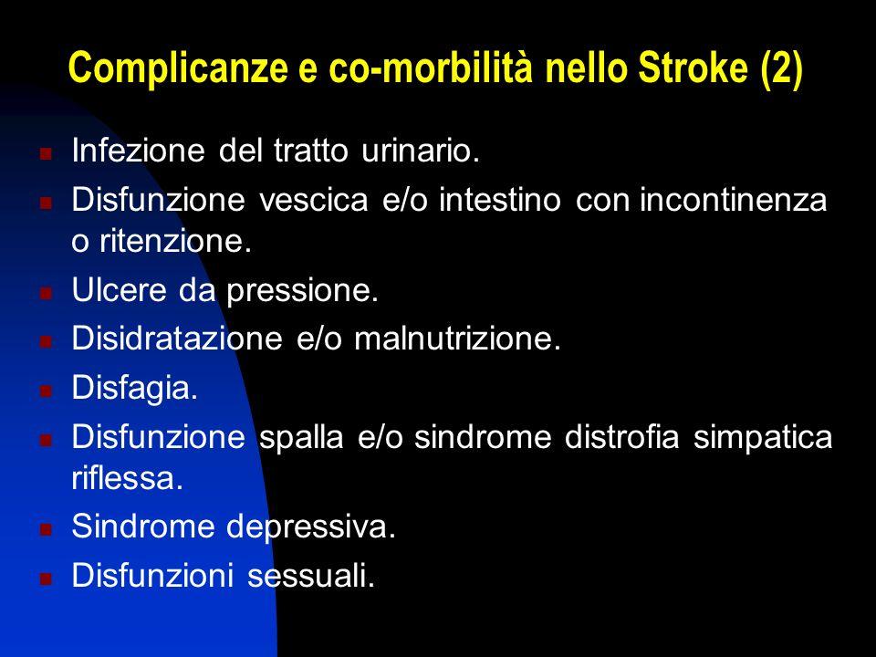 Complicanze e co-morbilità nello Stroke (2)