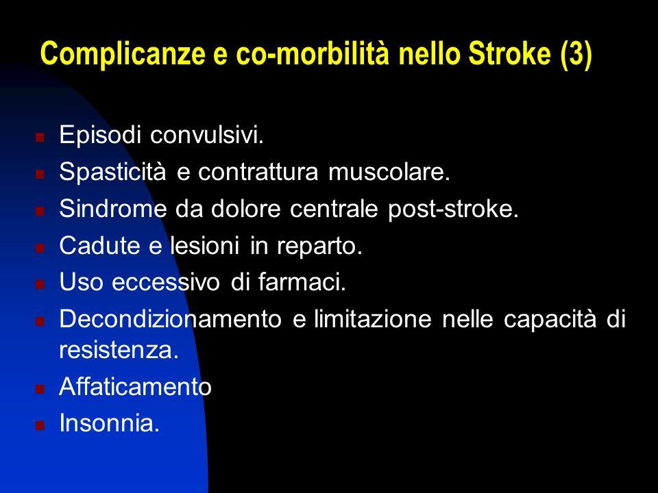 Complicanze e co-morbilità nello Stroke (3)