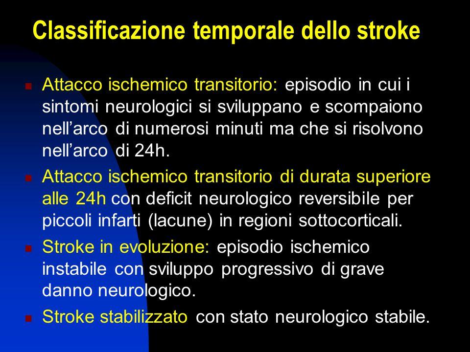 Classificazione temporale dello stroke