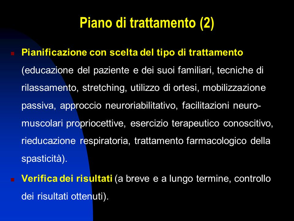 Piano di trattamento (2)