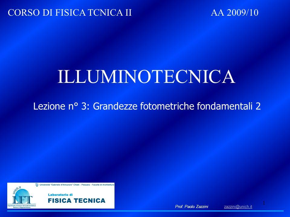Lezione n° 3: Grandezze fotometriche fondamentali 2