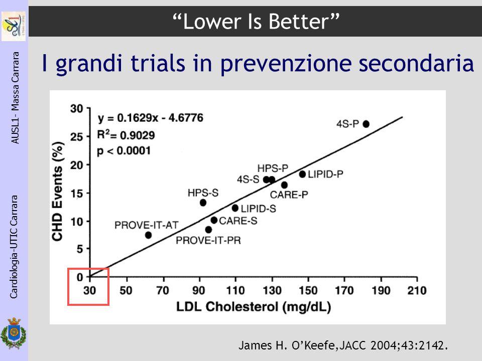 I grandi trials in prevenzione secondaria