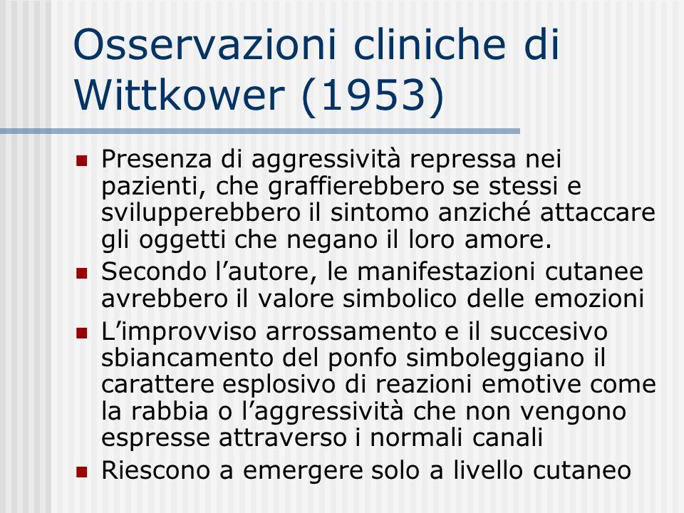 Osservazioni cliniche di Wittkower (1953)