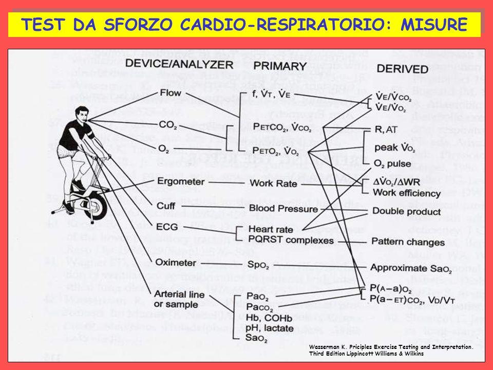 TEST DA SFORZO CARDIO-RESPIRATORIO: MISURE