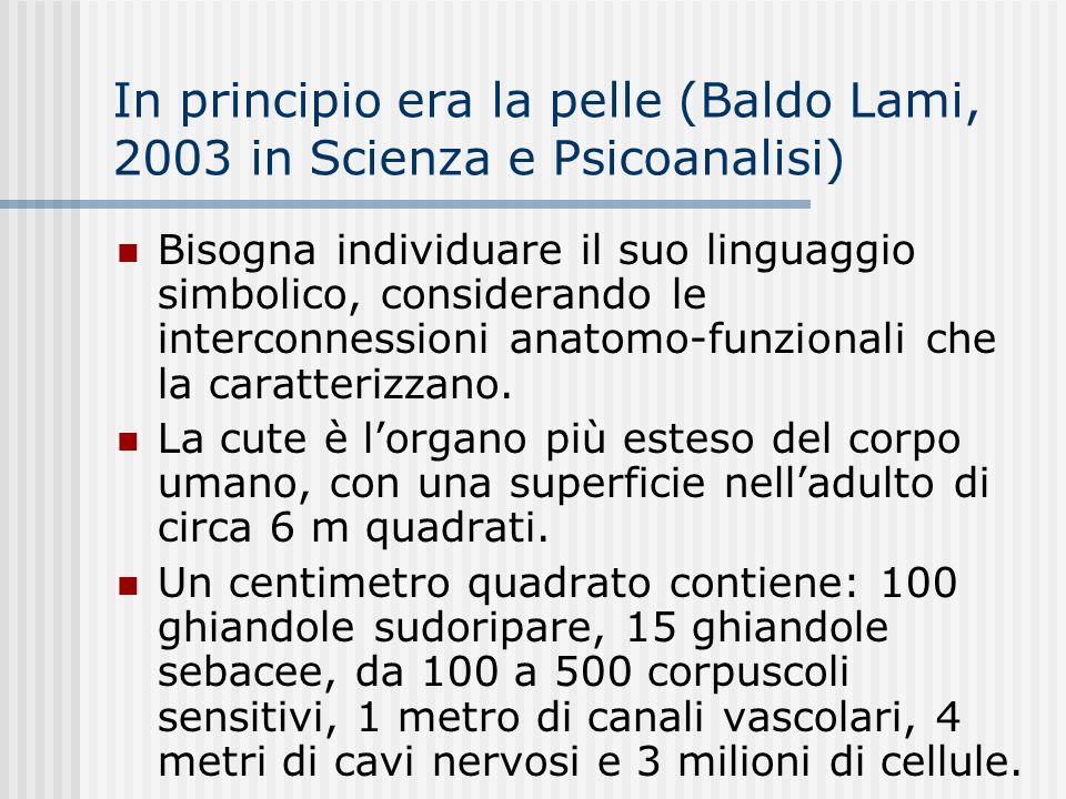 In principio era la pelle (Baldo Lami, 2003 in Scienza e Psicoanalisi)