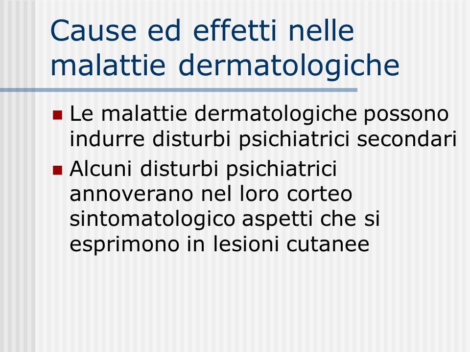Cause ed effetti nelle malattie dermatologiche