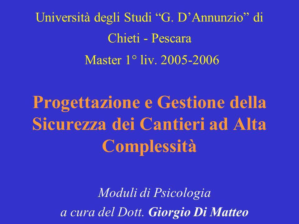 Moduli di Psicologia a cura del Dott. Giorgio Di Matteo