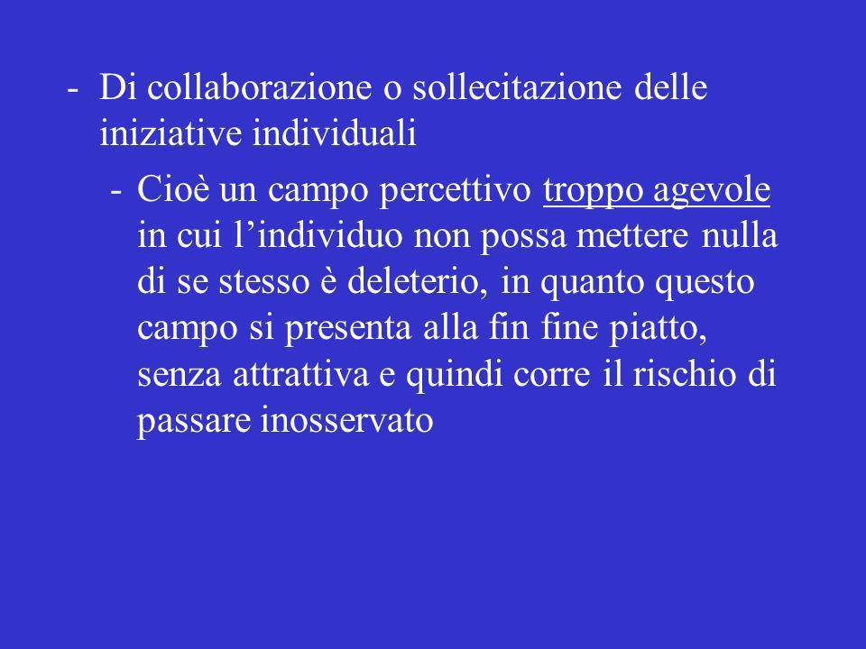 Di collaborazione o sollecitazione delle iniziative individuali