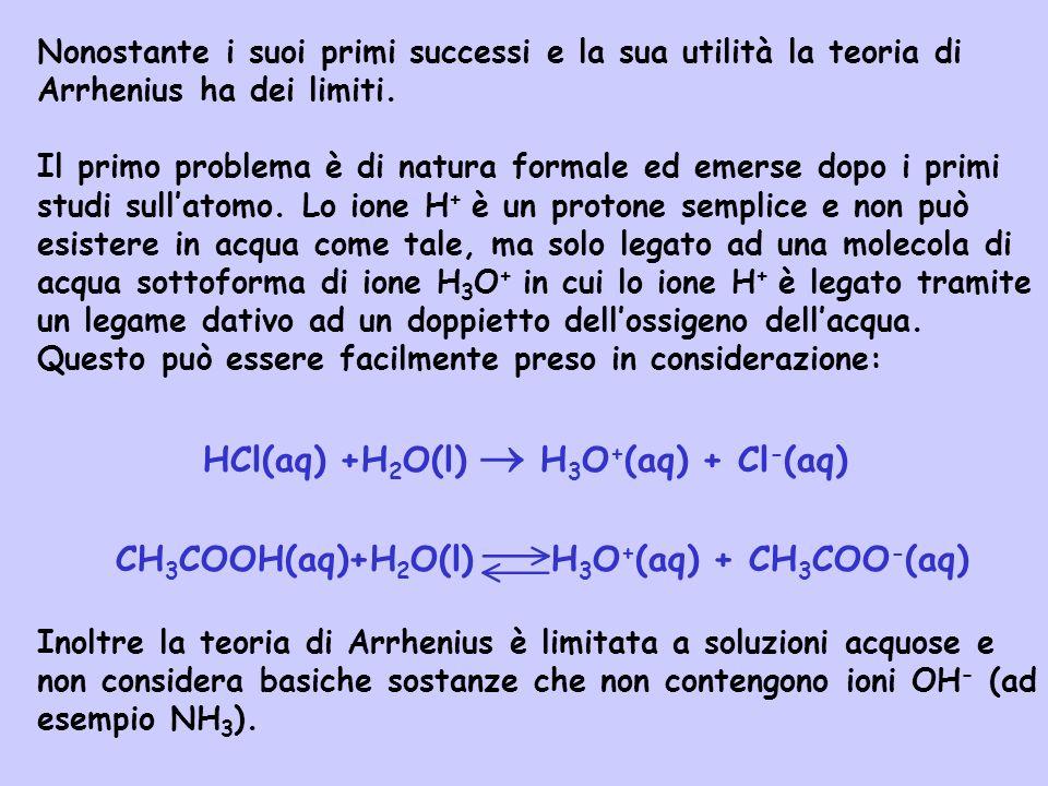 HCl(aq) +H2O(l)  H3O+(aq) + Cl-(aq)