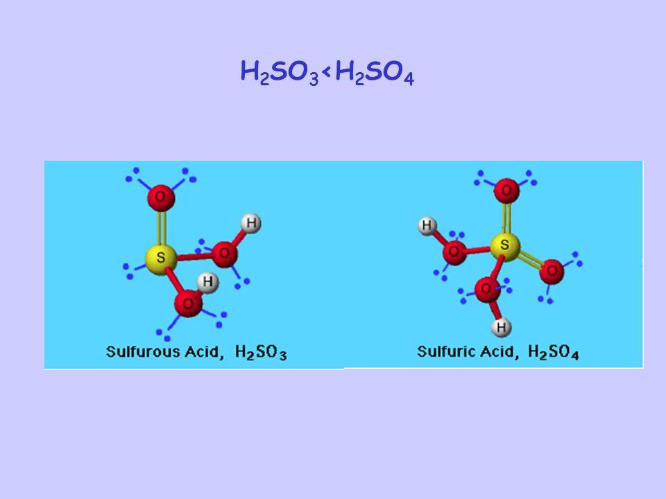 H2SO3<H2SO4