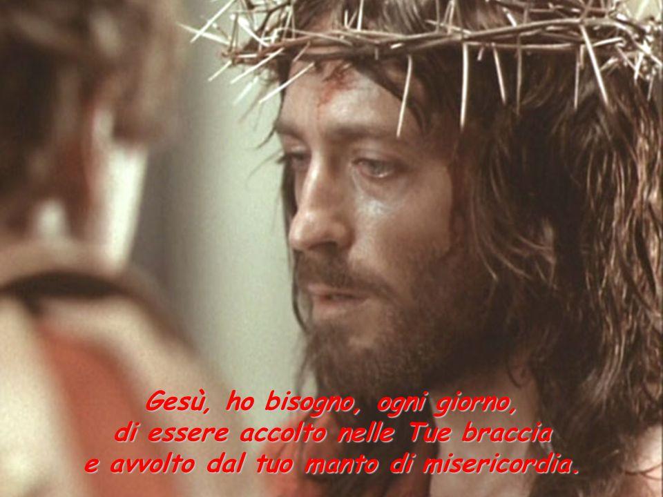 Gesù, ho bisogno, ogni giorno, di essere accolto nelle Tue braccia