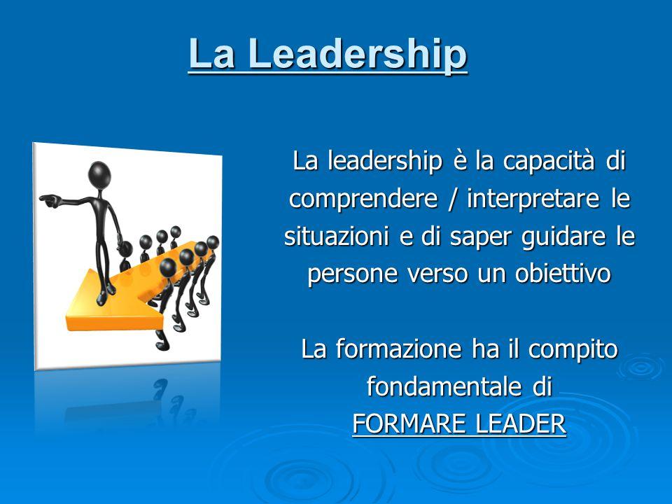 La Leadership La leadership è la capacità di