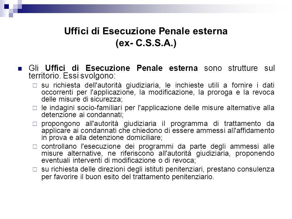Uffici di Esecuzione Penale esterna (ex- C.S.S.A.)