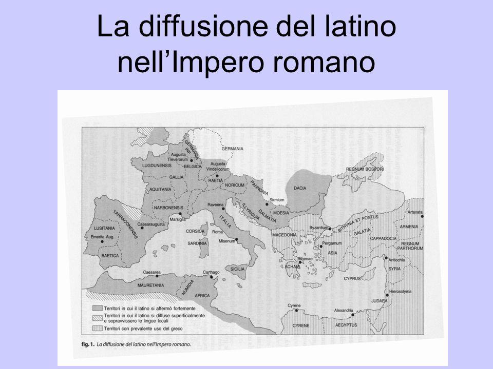La diffusione del latino nell'Impero romano