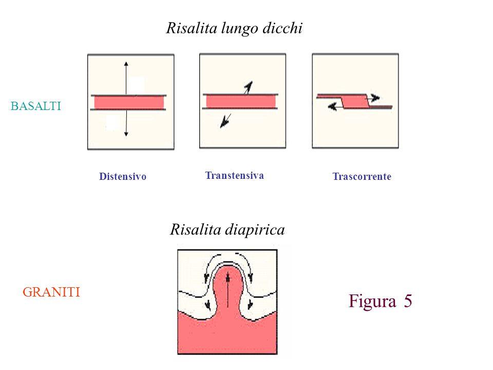 Figura 5 Risalita lungo dicchi Risalita diapirica GRANITI BASALTI