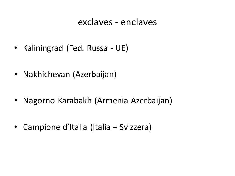 exclaves - enclaves Kaliningrad (Fed. Russa - UE)