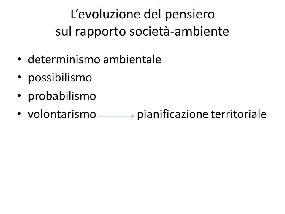 L'evoluzione del pensiero sul rapporto società-ambiente