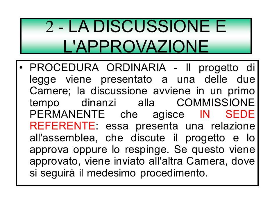 2 - LA DISCUSSIONE E L APPROVAZIONE