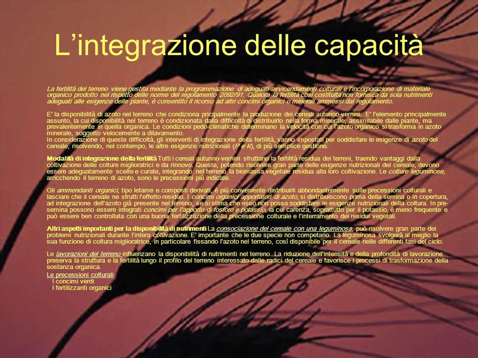 L'integrazione delle capacità