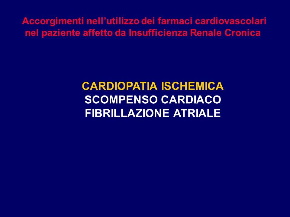 CARDIOPATIA ISCHEMICA FIBRILLAZIONE ATRIALE
