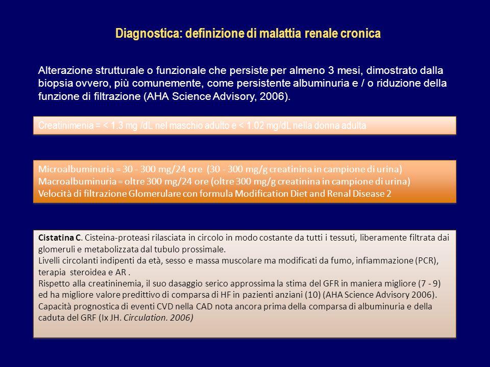 Diagnostica: definizione di malattia renale cronica