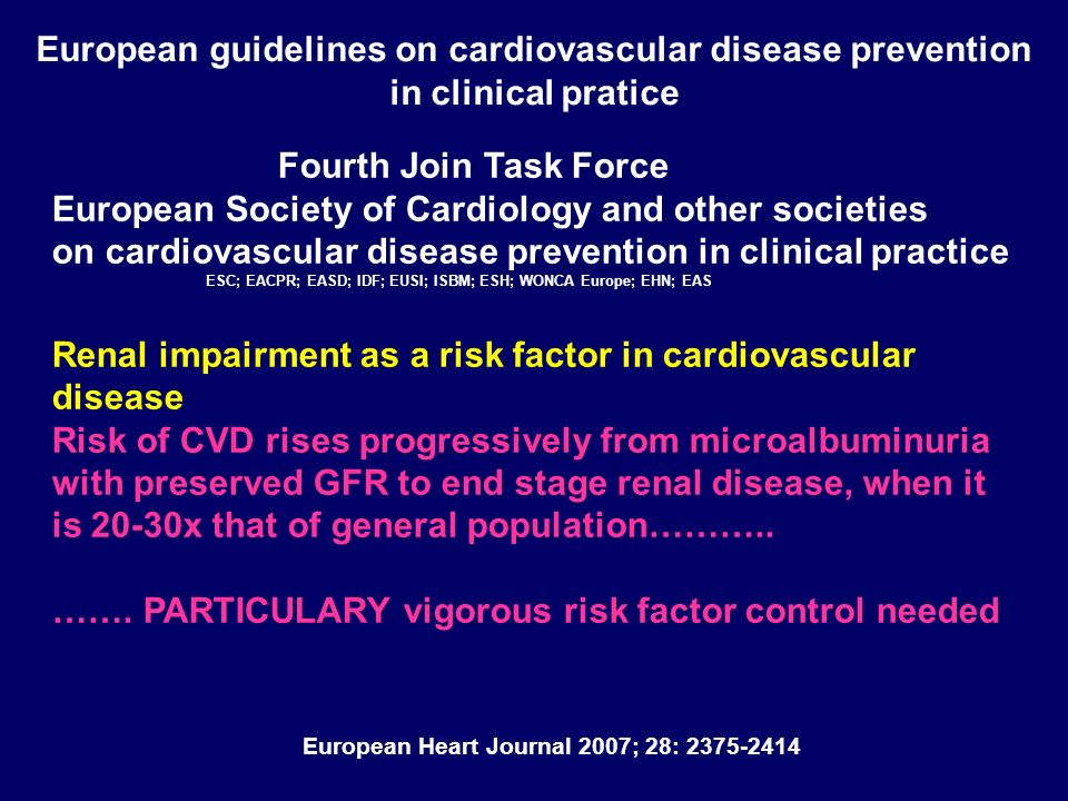 European guidelines on cardiovascular disease prevention