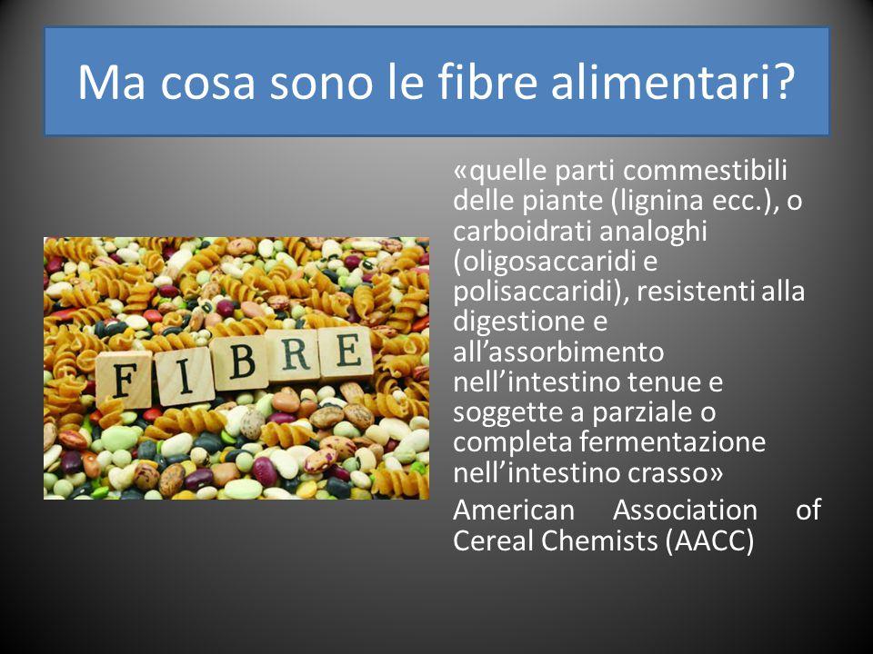 Ma cosa sono le fibre alimentari