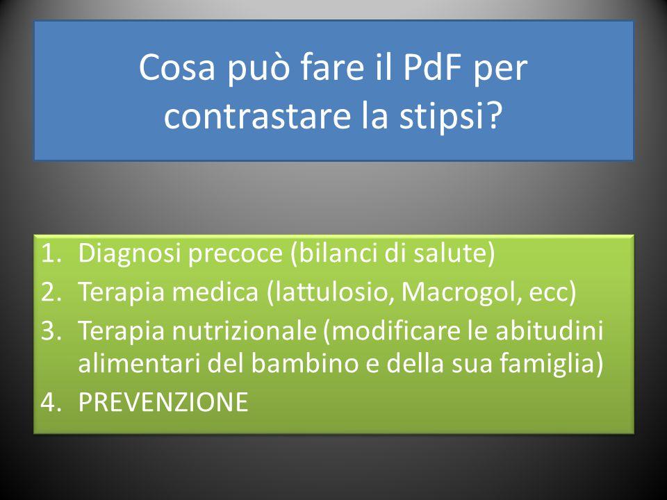 Cosa può fare il PdF per contrastare la stipsi