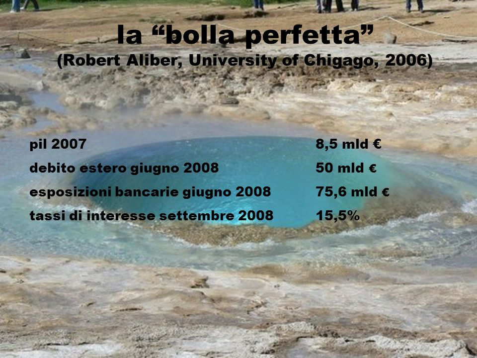 la bolla perfetta (Robert Aliber, University of Chigago, 2006)