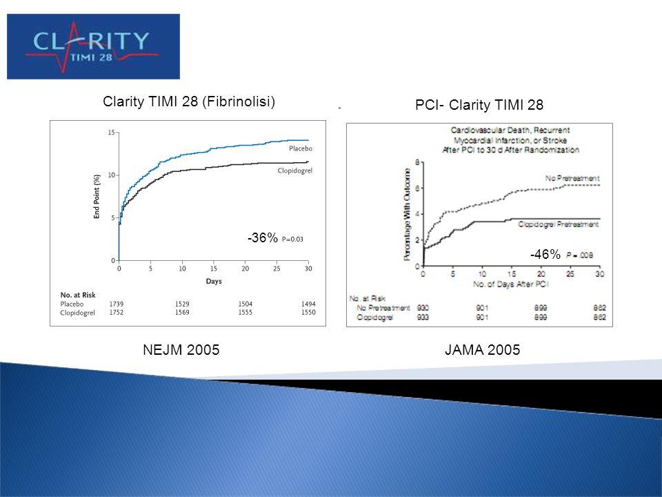 Clarity TIMI 28 (Fibrinolisi) PCI- Clarity TIMI 28