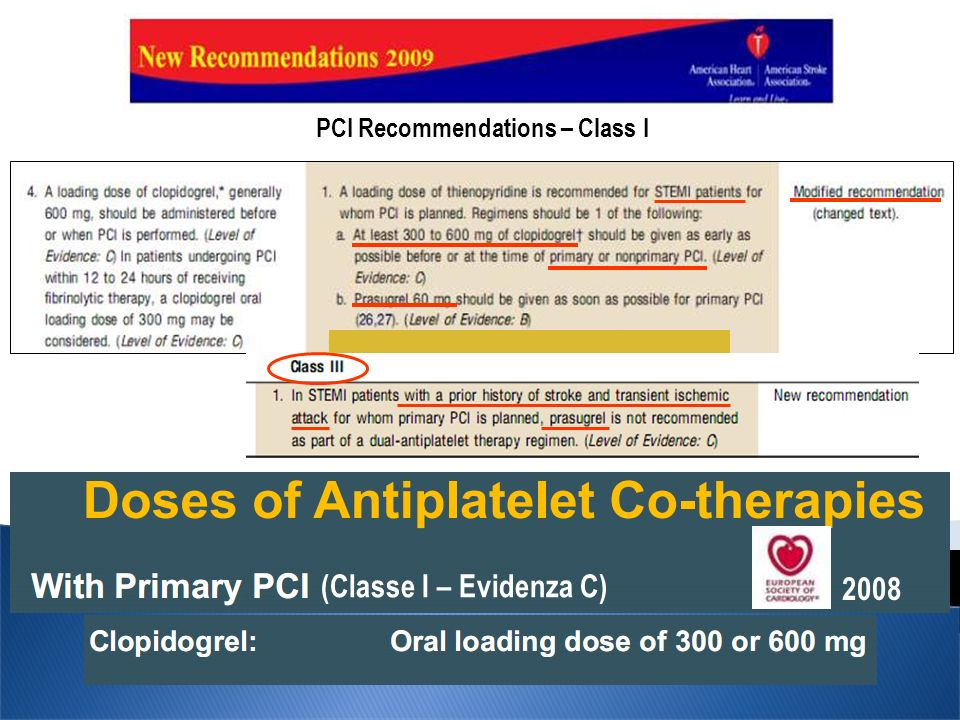 PCI Recommendations – Class I