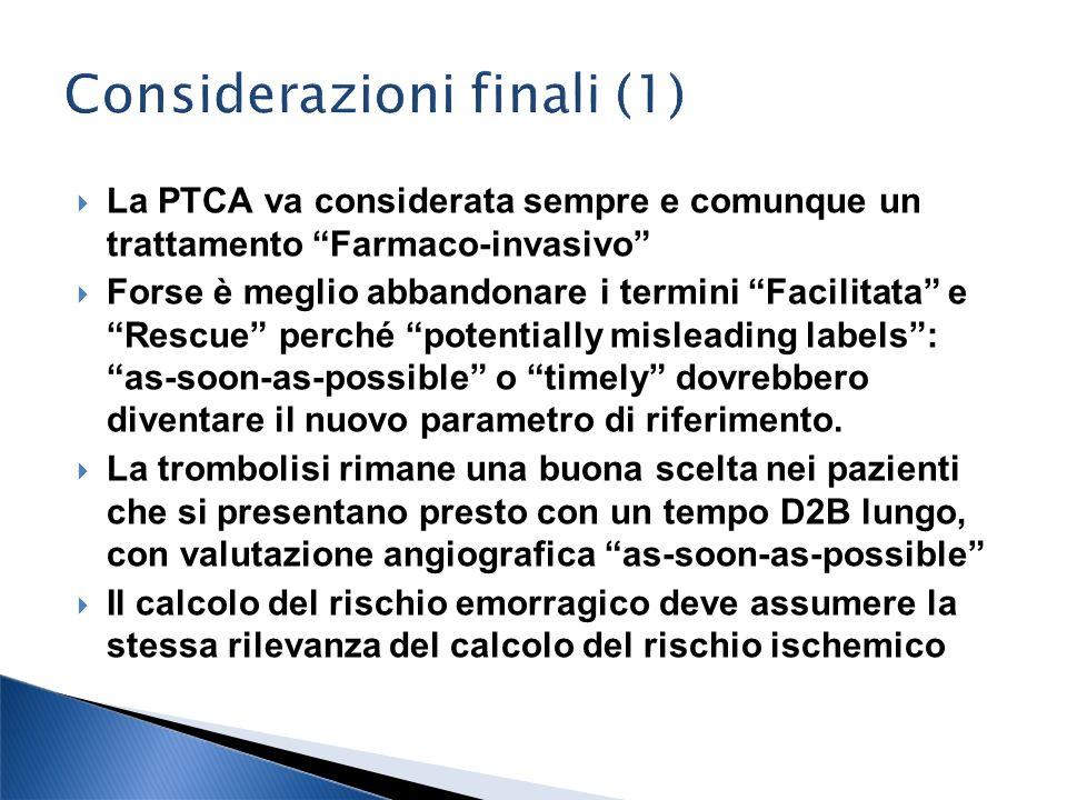 Considerazioni finali (1)