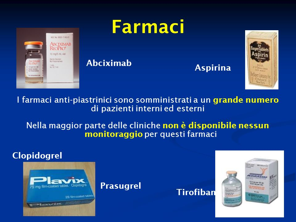 Farmaci Abciximab Aspirina