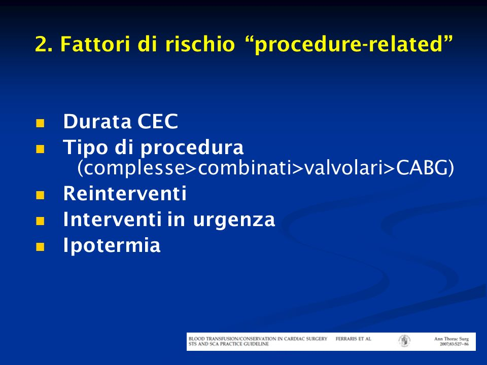 2. Fattori di rischio procedure-related