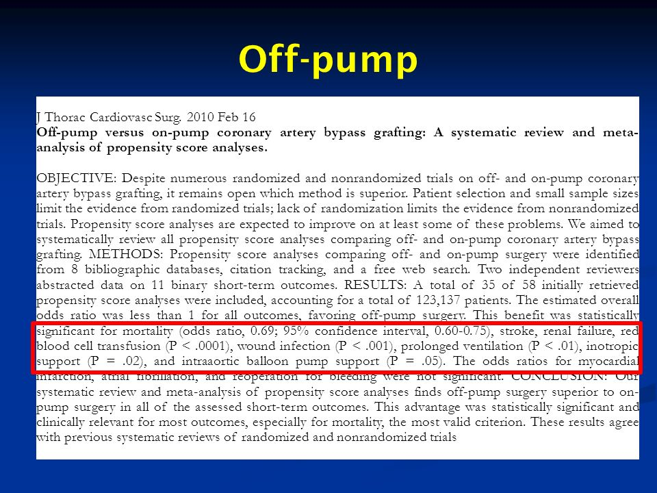 Off-pump J Thorac Cardiovasc Surg. 2010 Feb 16