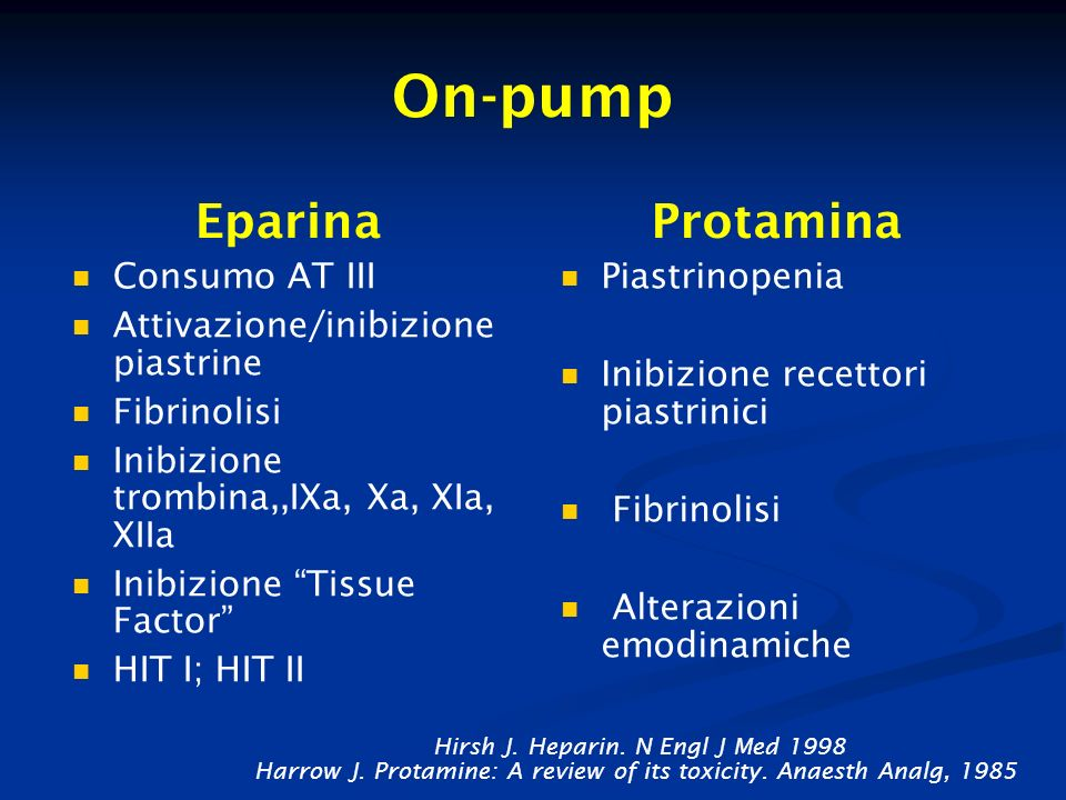On-pump Eparina Protamina Consumo AT III