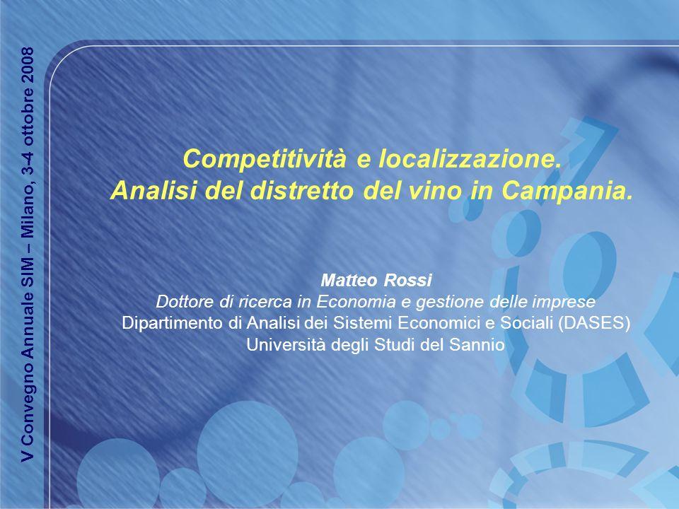 Competitività e localizzazione.