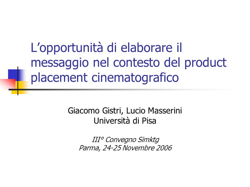 Giacomo Gistri, Lucio Masserini