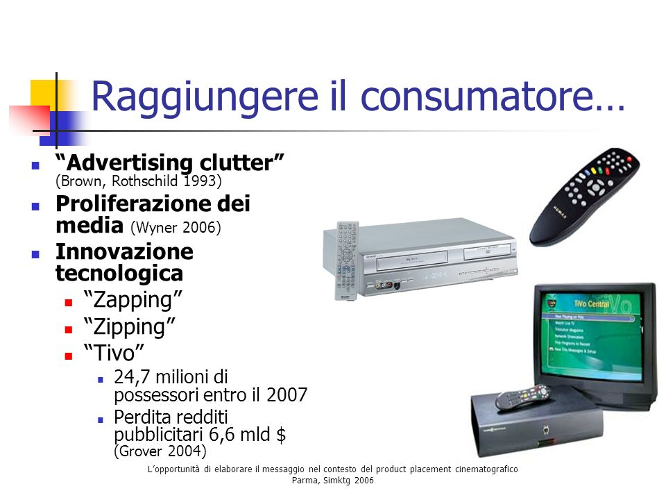 Raggiungere il consumatore…