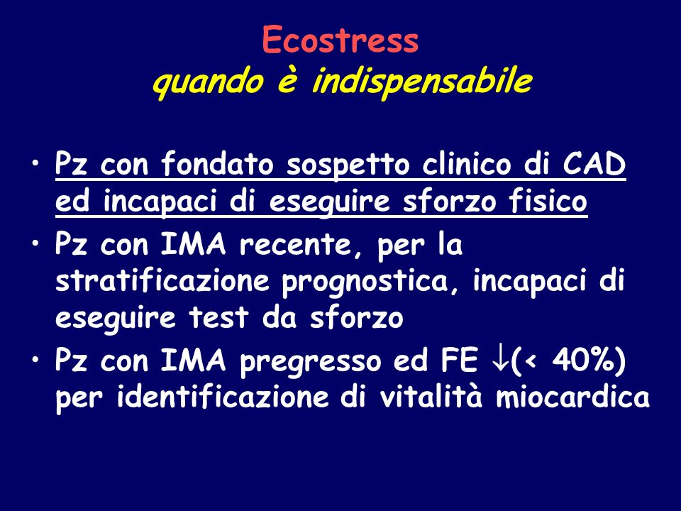 Ecostress quando è indispensabile