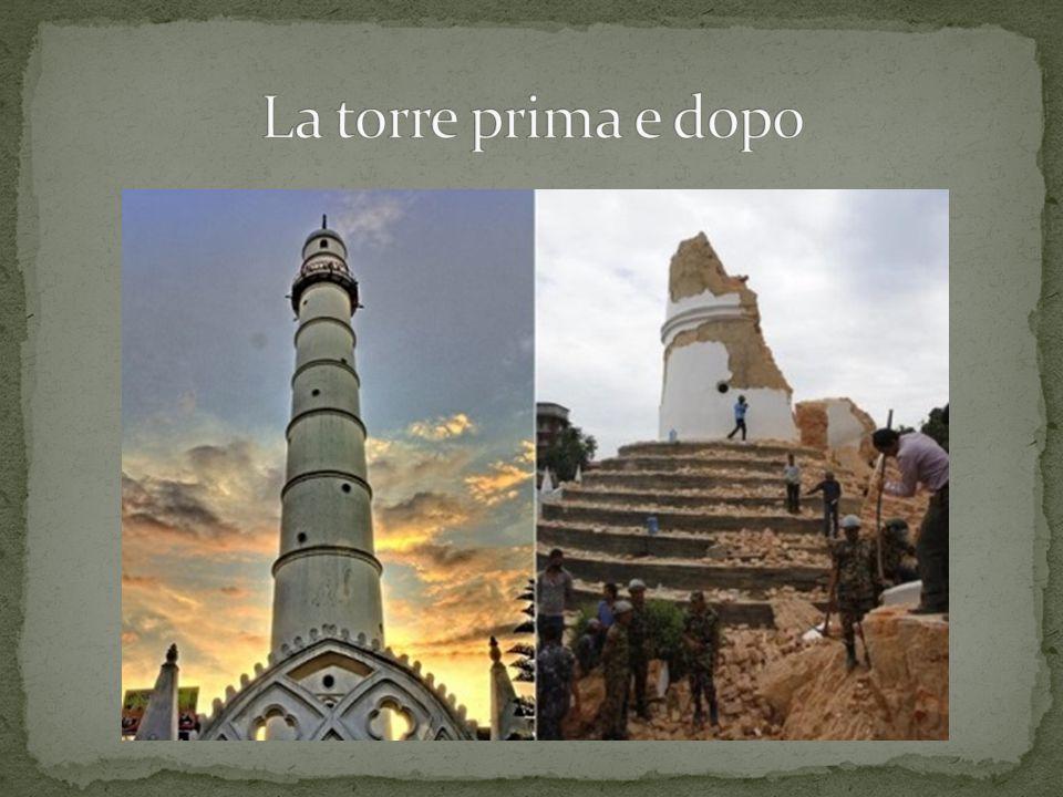 La torre prima e dopo