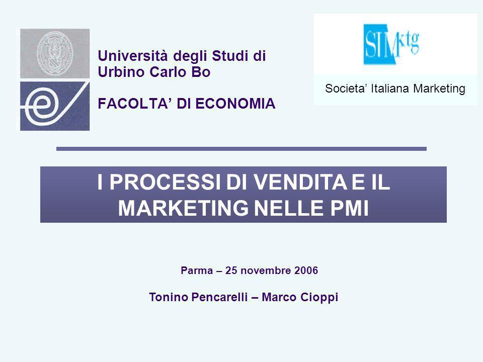Università degli Studi di Urbino Carlo Bo FACOLTA' DI ECONOMIA