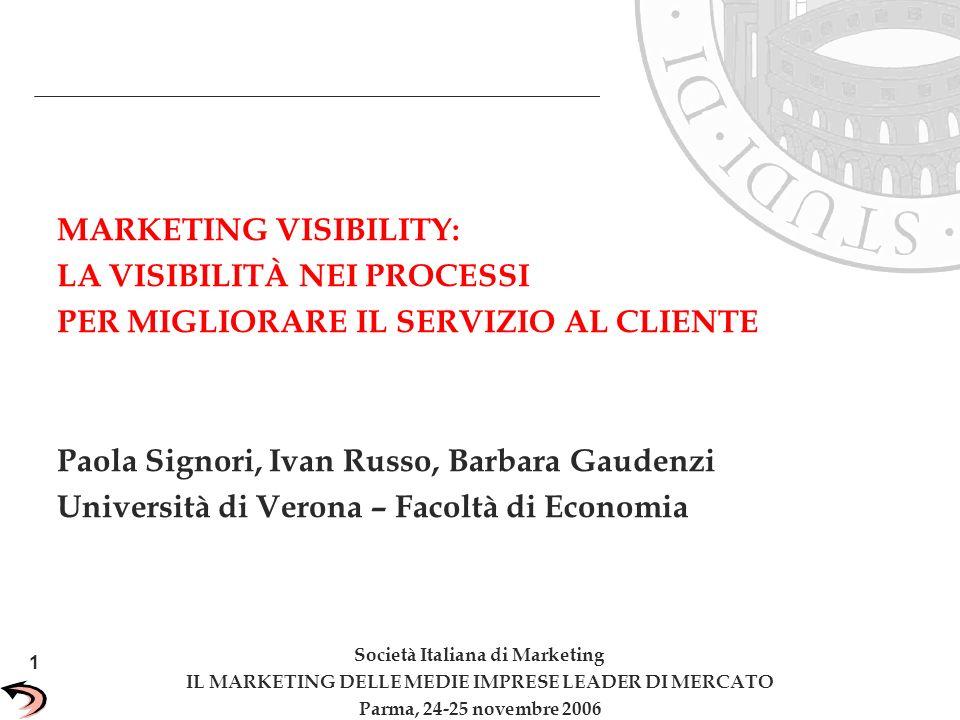 MARKETING VISIBILITY: LA VISIBILITÀ NEI PROCESSI