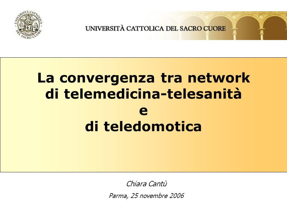 La convergenza tra network di telemedicina-telesanità e di teledomotica