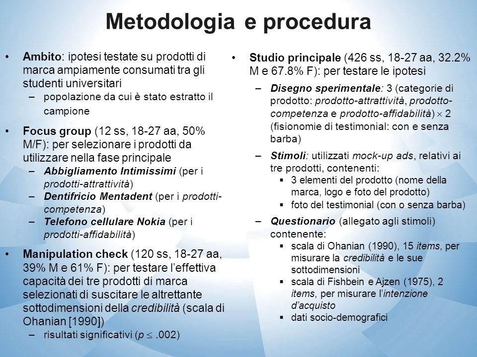 Metodologia e procedura