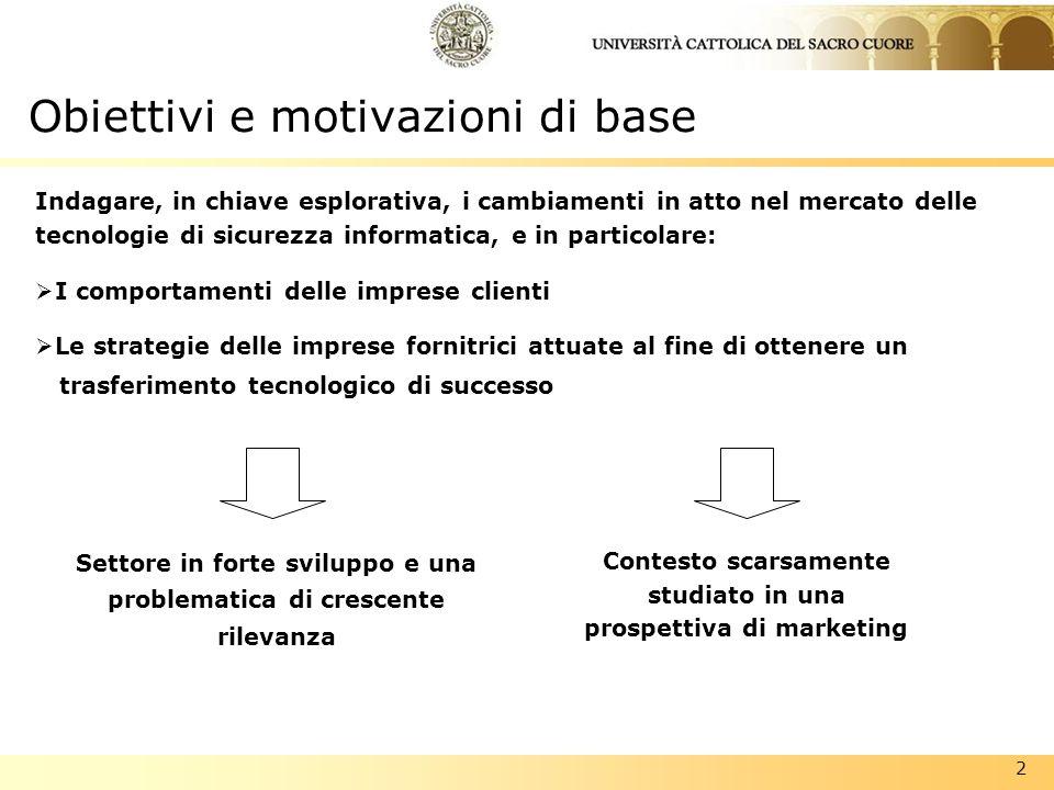 Obiettivi e motivazioni di base