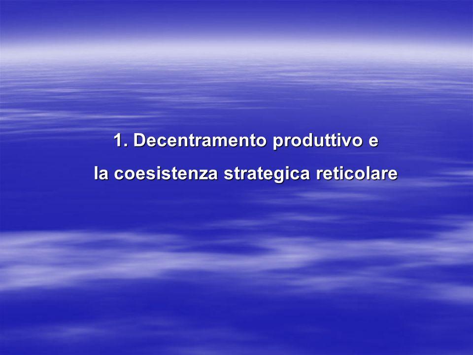 1. Decentramento produttivo e la coesistenza strategica reticolare