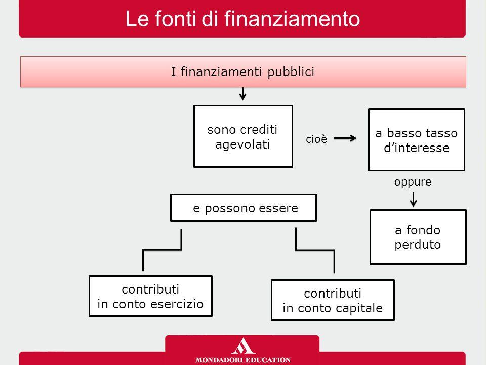 Le fonti di finanziamento