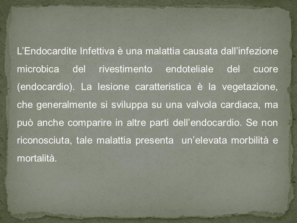 L'Endocardite Infettiva è una malattia causata dall'infezione microbica del rivestimento endoteliale del cuore (endocardio).