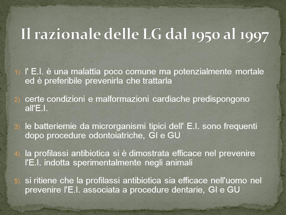 Il razionale delle LG dal 1950 al 1997